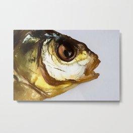 Dried Smoked Fish Head Metal Print