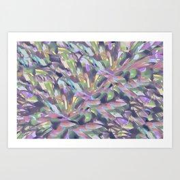Soft Pastel Garden Abstract  Art Print