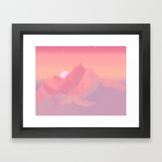 Peach Haze Framed Art Print