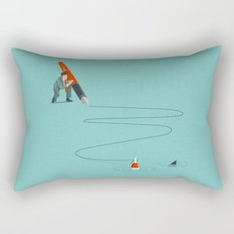 At The End Of The Line Rectangular Pillow