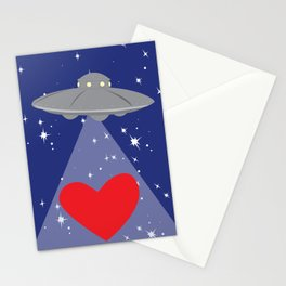 You Abducted My Heart Stationery Cards
