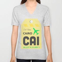 CAI Cairo airport Unisex V-Neck