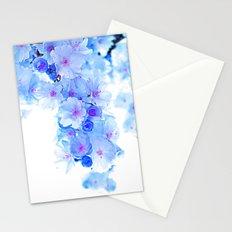 Cherry Blossom.Blue Stationery Cards