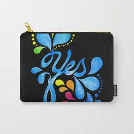 Yes! blue on black Carry-All Pouch