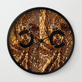 glamour vintage earrings black gold Wall Clock