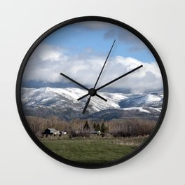 Montana Neighbors 2 Wall Clock