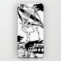 led zeppelin iPhone & iPod Skins featuring Zeppelin by Saskia Juliette