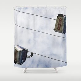 Emirates Cable Car London Shower Curtain