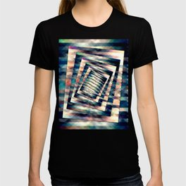 Rotating Grunge Rectangle T-shirt