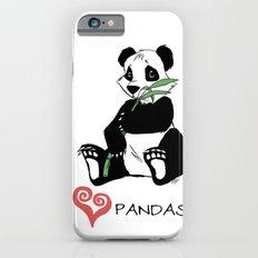 I Love Pandas Design Slim Case iPhone 6s