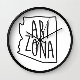 Arizona Map Print Wall Clock