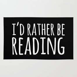 I'd Rather Be Reading - Inverted Rug