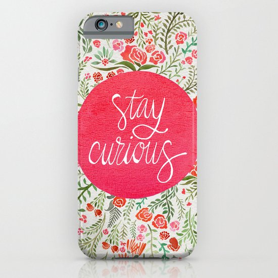 Stay Curious – Pink & Green iPhone & iPod Case