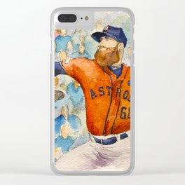 Dallas Keuchel Astros Pitcher Clear iPhone Case