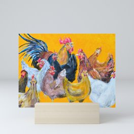 Chickens of Many Colors Mini Art Print