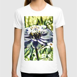 Zinnia In Abstract T-shirt