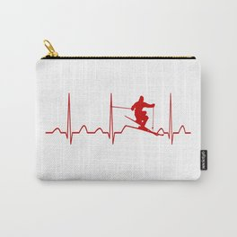 SKIING MAN HEARTBEAT Carry-All Pouch