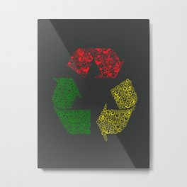 Peace, Love and Happiness Metal Print