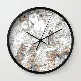 """Gray"" illustration Wall Clock"