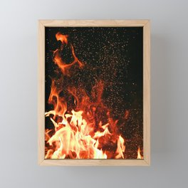 Flames Framed Mini Art Print