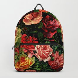 Vintage & Shabby chic - floral roses flowers rose Backpack