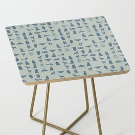 grid collective in blue Side Table