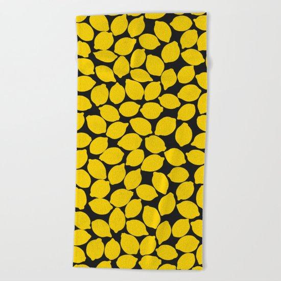 lemons 1 Beach Towel