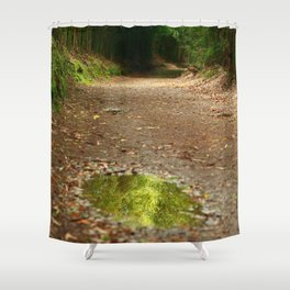 Puddle of water Shower Curtain