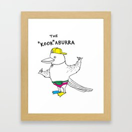 "The ""Kook""aburra Framed Art Print"