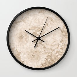 old festive colored flower pattern Wall Clock