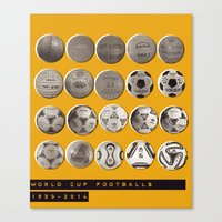 world cup Canvas Prints featuring World Cup Footballs by Thomas Orrow
