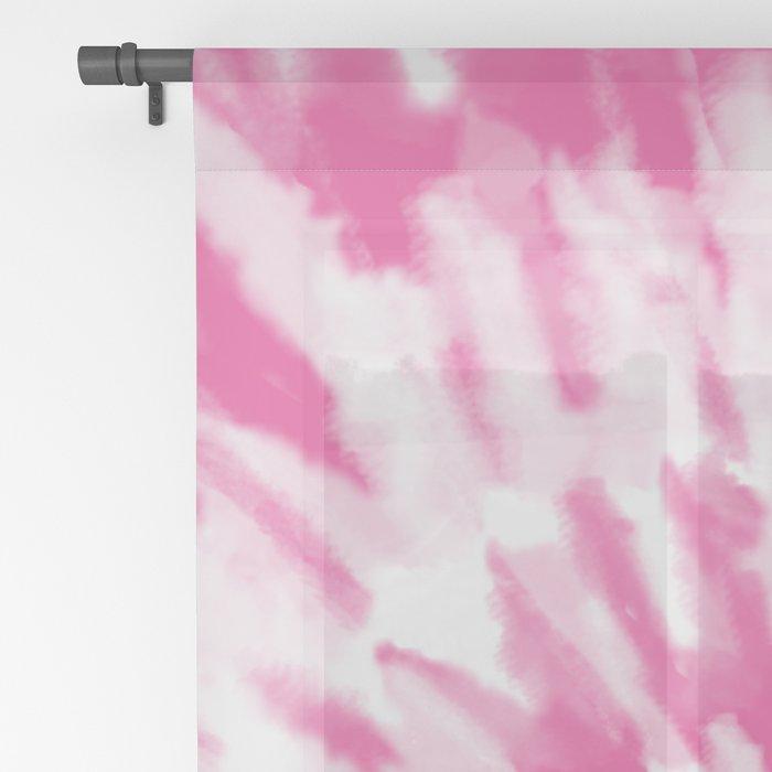 Light Pink Tie Dye Sheer Curtain