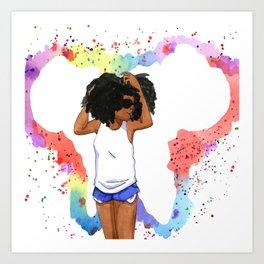 African Butterfly Art Print