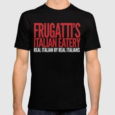 Frugatti's Mens Fitted Tee MEDIUM Black