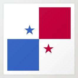 Panama flag emblem Art Print