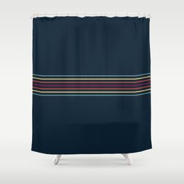 Thin Lines in Retro Color Shower Curtain