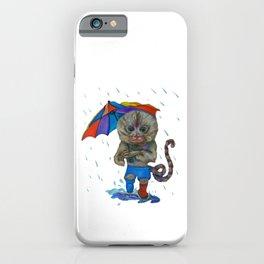 Pygmy Marmoset in the Rain iPhone Case