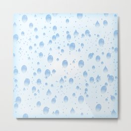 Water drops with background Metal Print