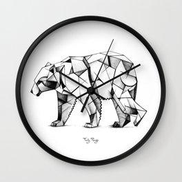 Kubism polar bear Wall Clock