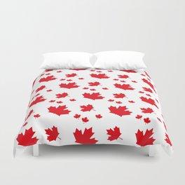 Canada Maple Leaf-Large-White Duvet Cover