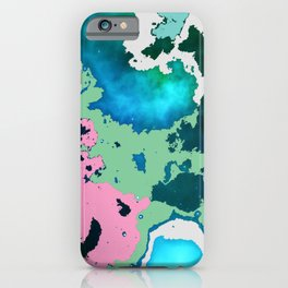 winter swimming pond reflecting in moonlight. iPhone Case