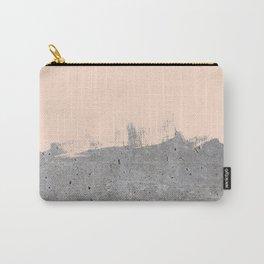 Pale Peach Concrete Carry-All Pouch