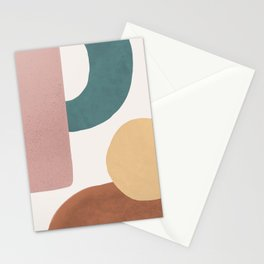 Abstract Earth 1.2 - Painted Shapes Stationery Cards