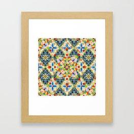 Elizabethan Blossom Starburst Framed Art Print