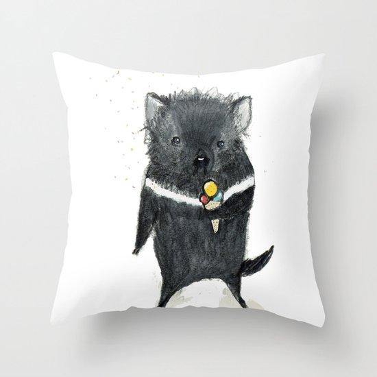 Tasmanian Devil Throw Pillow