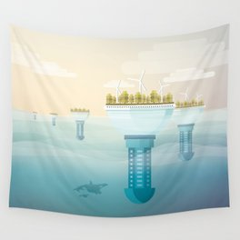 Underwater city Wall Tapestry