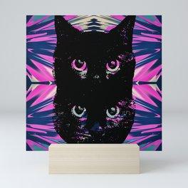 Black Cat Rising Mini Art Print