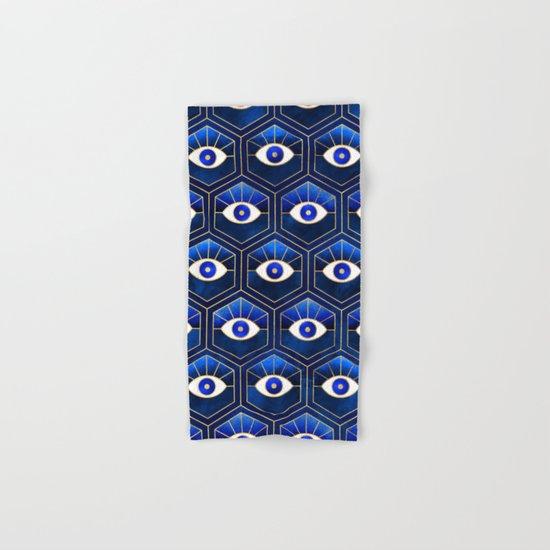 Eyes / Blue Hand & Bath Towel
