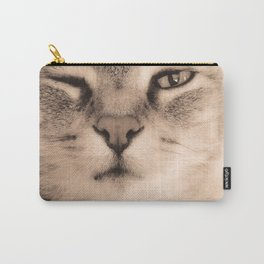 Wise Tabby Cat Carry-All Pouch