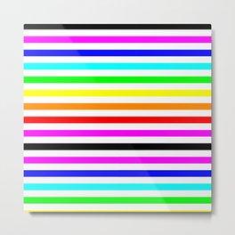 Rainbow stripes LGBT gay pride season bright color Metal Print